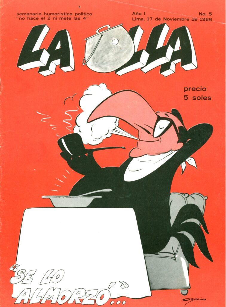 Caricatura de Guillermo Osorio, Portada de La Olla de 1966