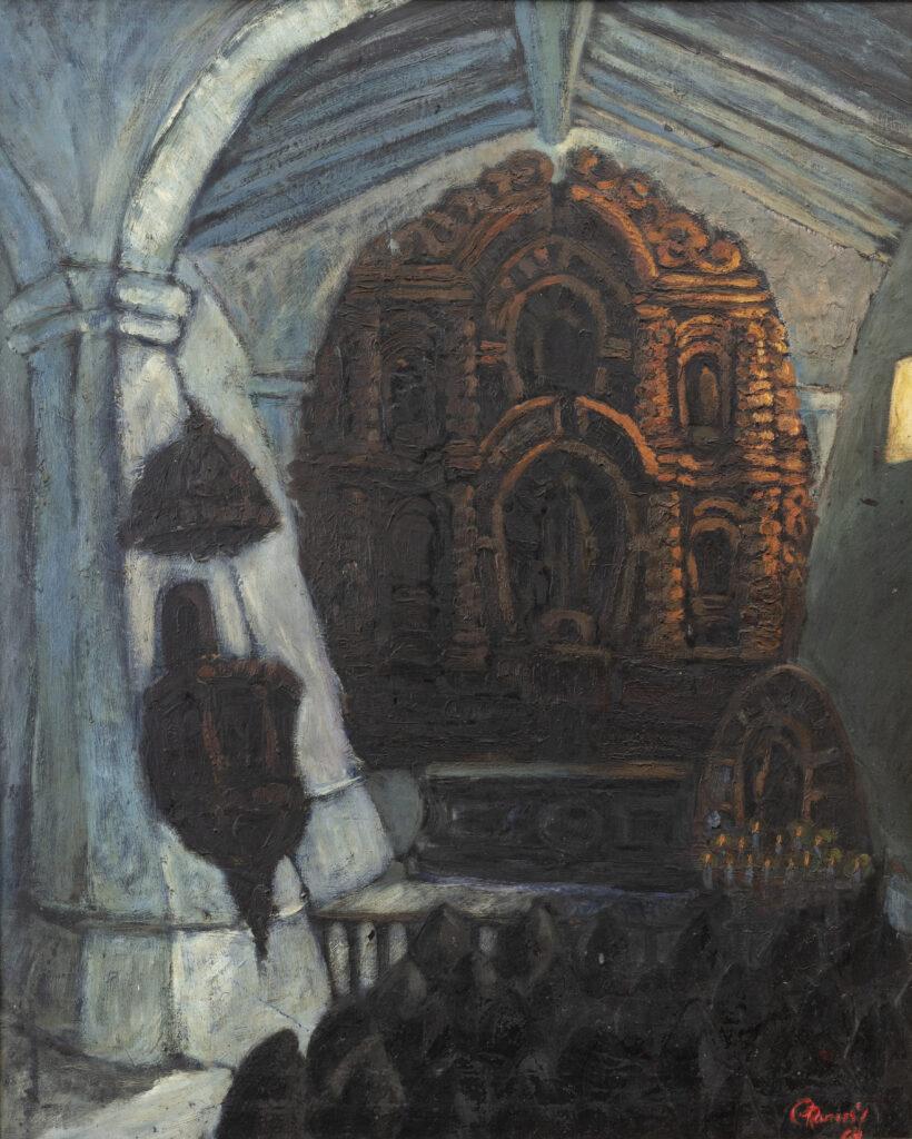 98 x 78 cm. Óleo sobre lienzo. C. 1964.