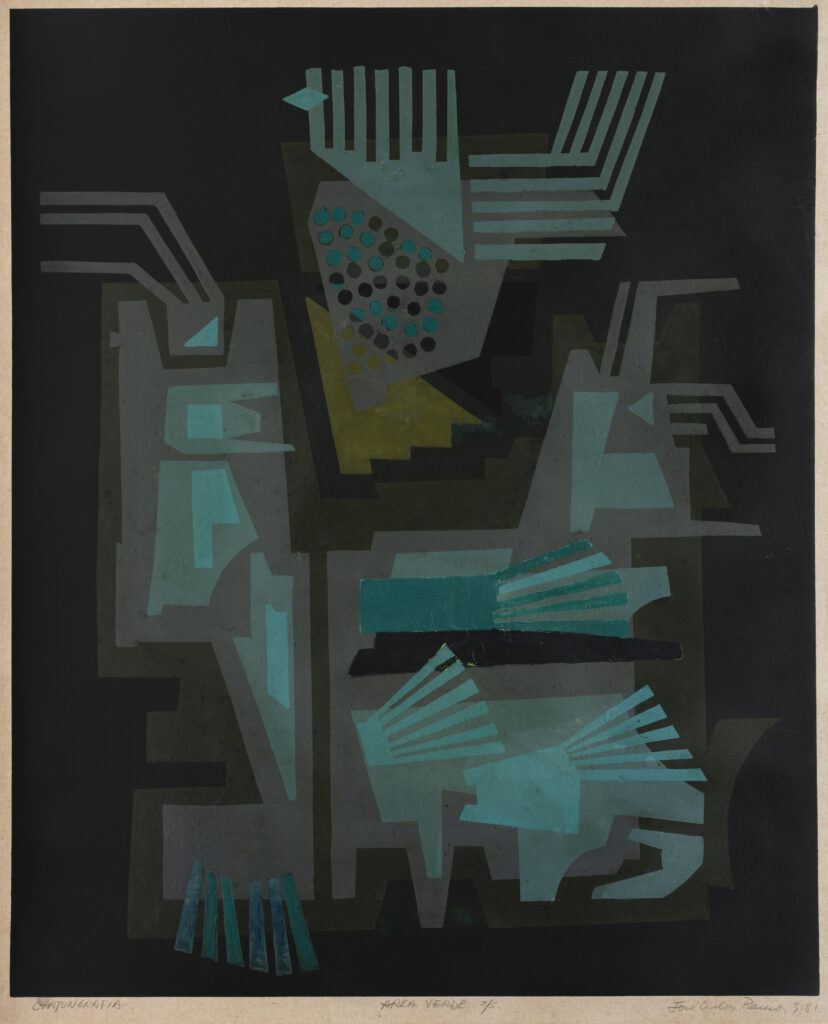 75 x 60 cm. Cartongrafía sobre papel. 1981.