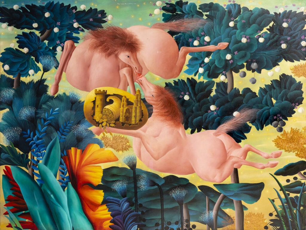 170 x 220 cm. Óleo sobre lienzo. 1989.