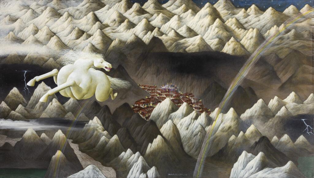 110 x 199 cm. Óleo sobre lienzo. 2003.